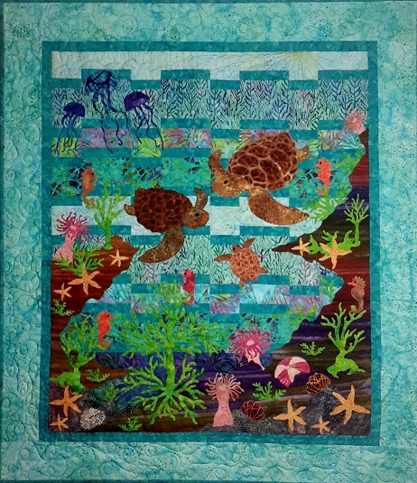 Welcome Home Baby Turtle - click quilt for more details!